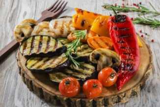 готовые овощи на гриле