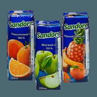 сок sandora 0,25л