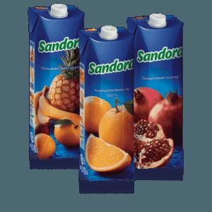 сок sandora 1л